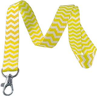 Jaune Chevron Lanyard Porte-clés badge d'identification support