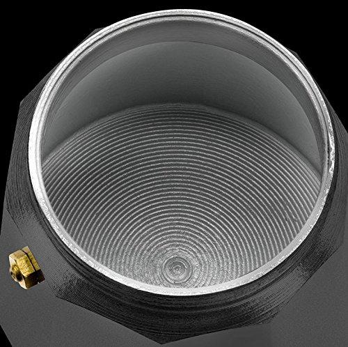 Monix Vitro Noir – Cafetera Italiana de Aluminio, Capacidad 1 Taza, Apta