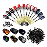 Wolmund Soft Darts, 12 Pc 18g Plastic Tipped Darts Set with Aluminum...