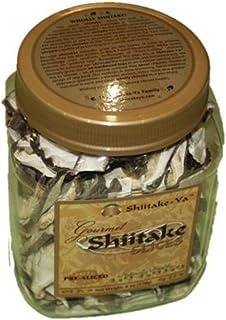 Gourmet Sliced Dried Shiitake Mushrooms 6 ounce Jar by Shiitake-Ya Pre Sliced