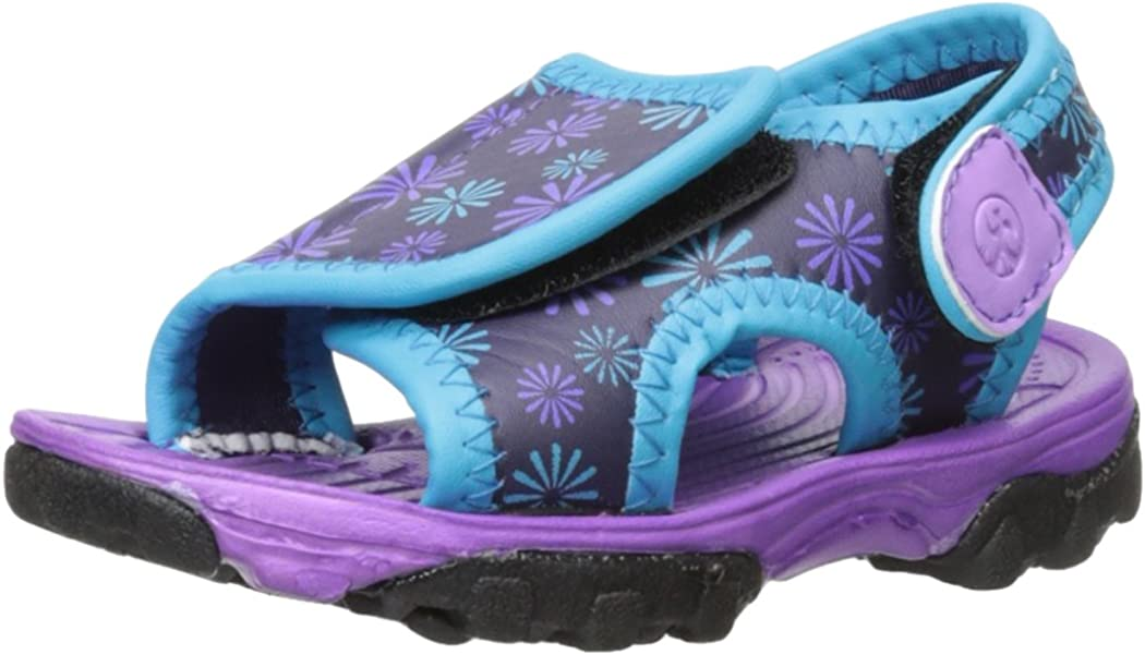 Northside Haller Fisherman Sandal (Toddler/Little Kid), Purple/Aqua