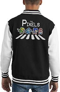 The Pixels Album Cover Retro Gamer Kid's Varsity Jacket