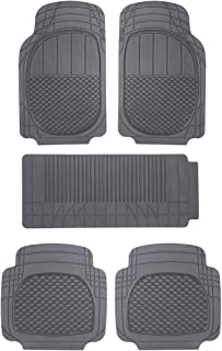 Sepia Universal Car Foot Mat (Set of 5, Black)