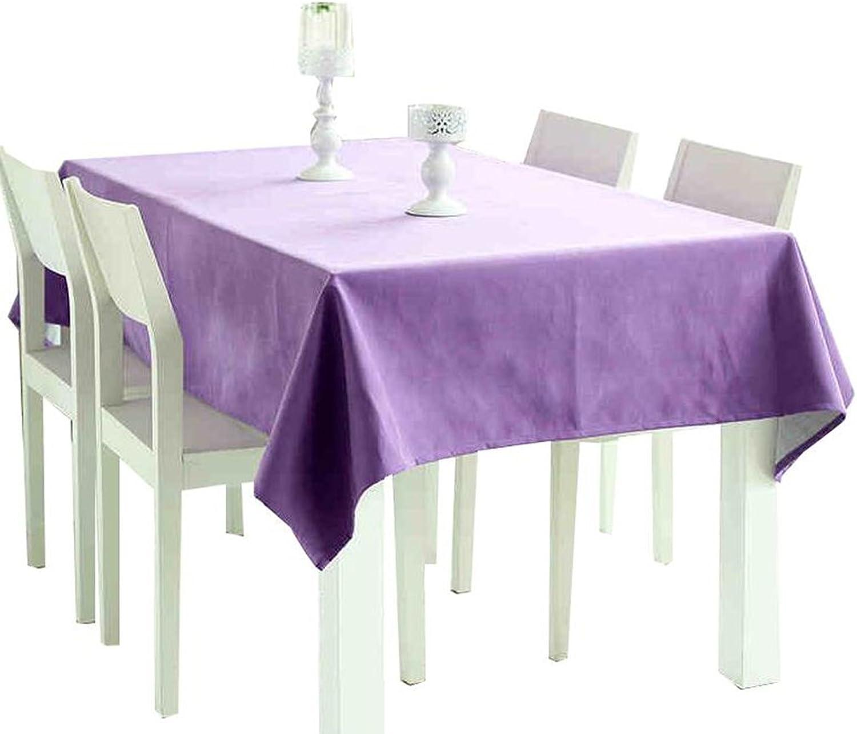 oferta especial HJHY Mantel, Estilo Europeo Simple Simple Simple Color Sólido Algodón Lino Hogar Hotel Estilo Simple Rectángulo Púrpura Impermeable y a prueba de aceite ( Tamaño   140x200cm )  precio razonable