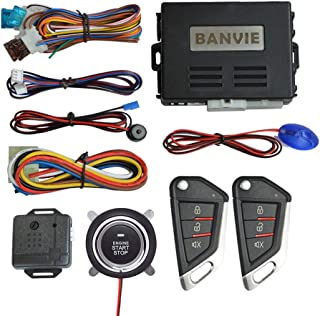$44 » BANVIE Car Keyless Entry Security Alarm System with Remote Engine Start and Push to Start Stop Iginition Button Kit