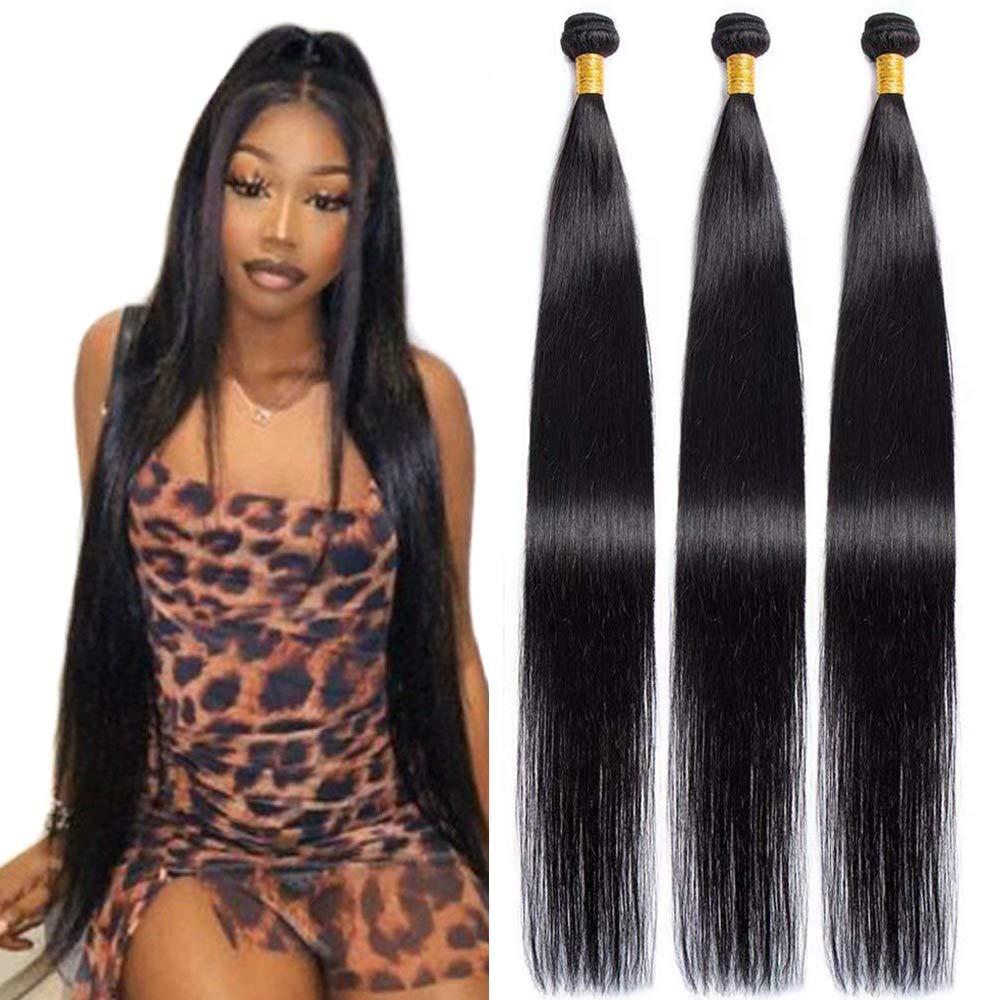 Maxine Hair 10A Free Shipping New Brazilian Virgin 100% Bundles Excellence Un Straight 3