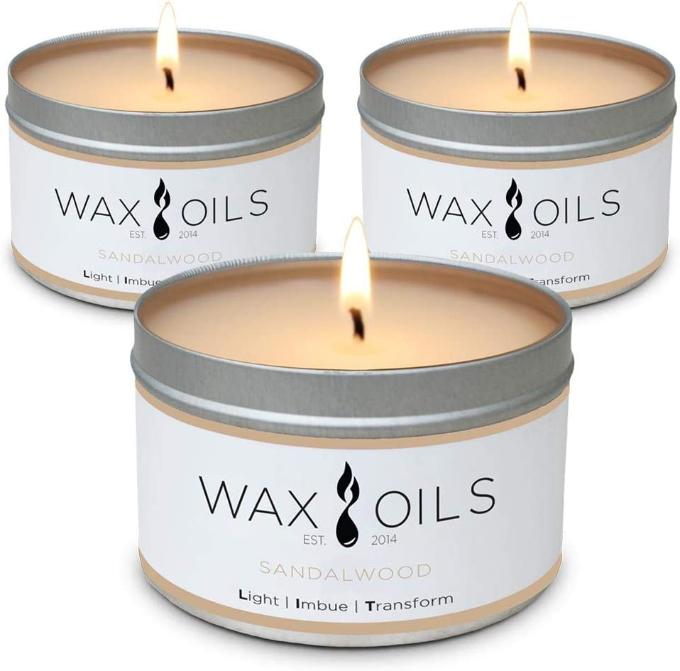 Scented Candles - Sales of SALE items from new works Sandalwood Pack Soy Aromatherapy of 3 Candle Sales results No. 1