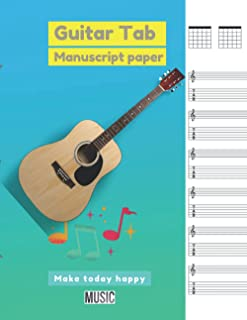 Guitar Tab Manuscript Paper,, Gradientcolored background cover: 100 pages - Large(8.5 x 11 inches)