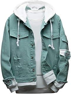 Sunward Men's Cowboy Jacket Casual And Comfortable Jean Coat