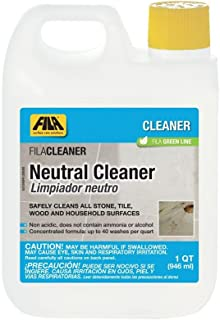 FILA Stone Clean, Marble and Granite Cleaner, Professional Neutral Cleaner Concentrate ideal for Natural Stone, Safely Cleans Marble, Granite, Travertine, Quartz, Eco-Friendly, 1 QT