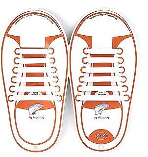 Sin ataduras, cordones de silicona para niños y adultos Kuyia, impermeables, fácil de limpiar, soporte de elástico, para zapatos deportivos.