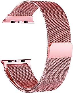 Correa de Mujer Banda de Reloj de Malla Tejida con Malla, Metal Correa Compatible con Apple Watch 42mm 44mm, Pulsera de Re...