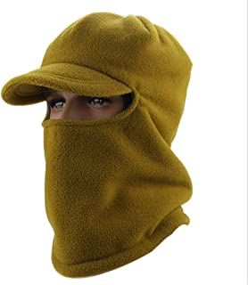 Hat Fashion Winter Outdoors Unisex Cap Balaclava Ski Face Mask Windproof Motorcycle Face Shield Breathable Neck Warmer for Cycling Snowboarding Hiking Fashion Accessories (Color : Green)