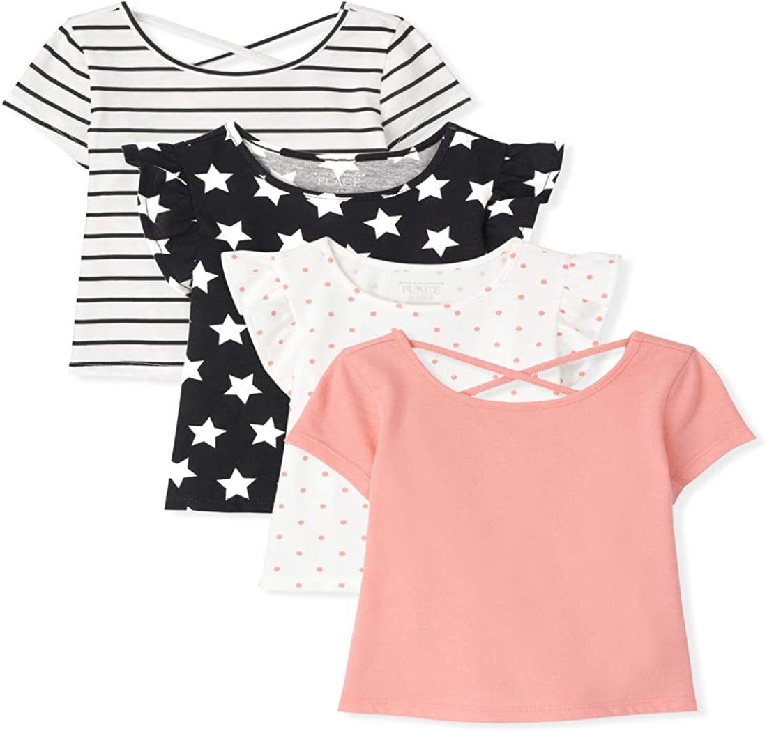 The Children's Place Toddler Girls Basic Layering Tee And Tank Top 4-Pack