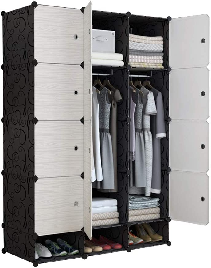 trend rank ZZF Combination Wardrobe Simple Wood War Assembly Solid It is very popular