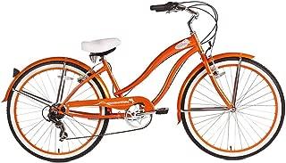 Micargi Rover 7-Speed Beach Cruiser Bike, Orange, 26-Inch