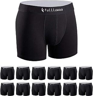 Fullluwaa Boxer Uomo (Pacco da 12) Mutande in Cotone Fitted Slip