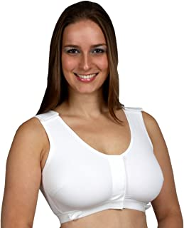 Gentle Touch Post-Surgical Surg-Ease Bra #471-V XXLarge, Hook & Loop, White