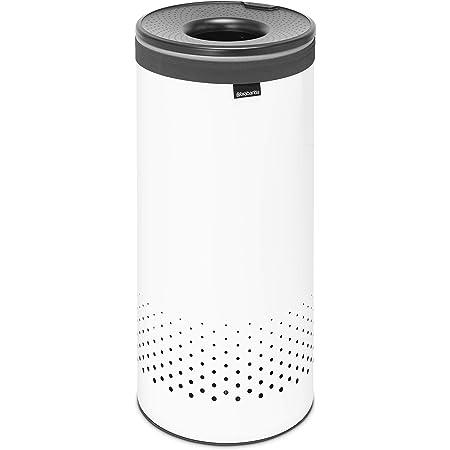 Corbeille à Linge, 35 Litres - White / Couvercle Plastique Dark Grey