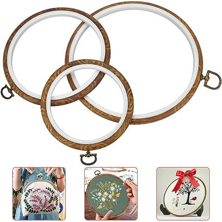 Innendurchmesser 7cm Farbe Random Simiday Stickrahmen aus Kunststoff Kreis Kreuzstich Hoop-Ring-Haupthandmade DIY Werkzeug