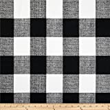 Premier Prints Anderson Check Cotton Duck, Yard, Black/White