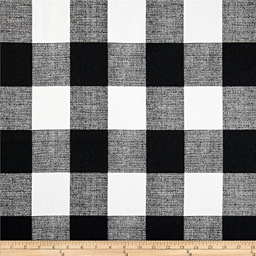 Premier Prints Anderson Check Cotton Duck, Yard, Black/White