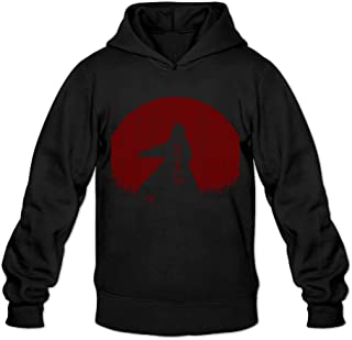 Vintage Red Moon Naruto Classic Men's Hooded Hoodies
