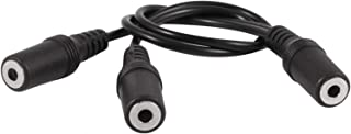$31 » LJQSS Durable 28cm 3.5mm Female to Dual Jack Female Y Splitter Stereo Audio Cable Black Switch Button