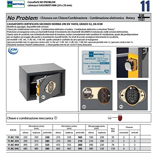 CASSAFORTE NO PROBLEM KC130 ART. 10KC130