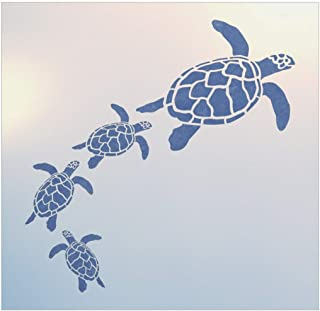 Sea Turtle Family Stencil - The Artful Stencil