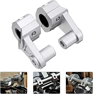 MOTOBA Motorcycle Handlebar Risers Universal CNC Machined Handle Bar Riser Height for Honda Yamaha Kawasaki BMW Suzuki 7/8 22mm or 1 1/8 Inch 28mm(Silver)