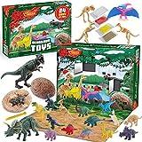 JOYIN 2020 Dinosaur Advent Calendar Kids Christmas 24 Days Countdown Calendar Toys for Kids with Dinosaur Toy Figures