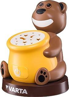 VARTA Paul the Bear LED Nachtlicht (Schlummerleuchte geeignet für Kinder, Orientierungslicht Nachtlampe Taschenlampe Stimmungslicht mit Touch Sensor und Auto Abschaltfunktion)