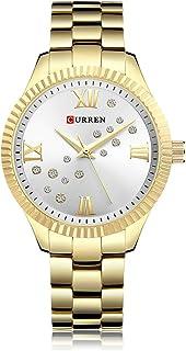 ساعة نسائية من GoolRC 9009 ساعة كوارتز حركة كريستال ساعة بسيطة غير رسمية للنساء