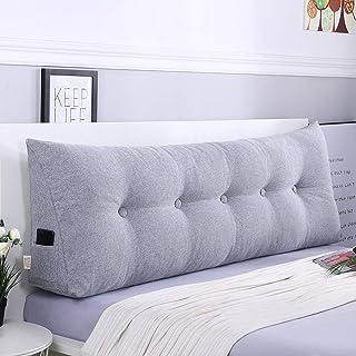 ZHZG Cojines cabecero Triángulo Almohadas de la Cama Suave Paquete Gran sofá Cama Tatami Amortiguador Trasero Respaldo Desmontable y Lavable (Color : Gray, Size : 80cm(31.5 Inches))