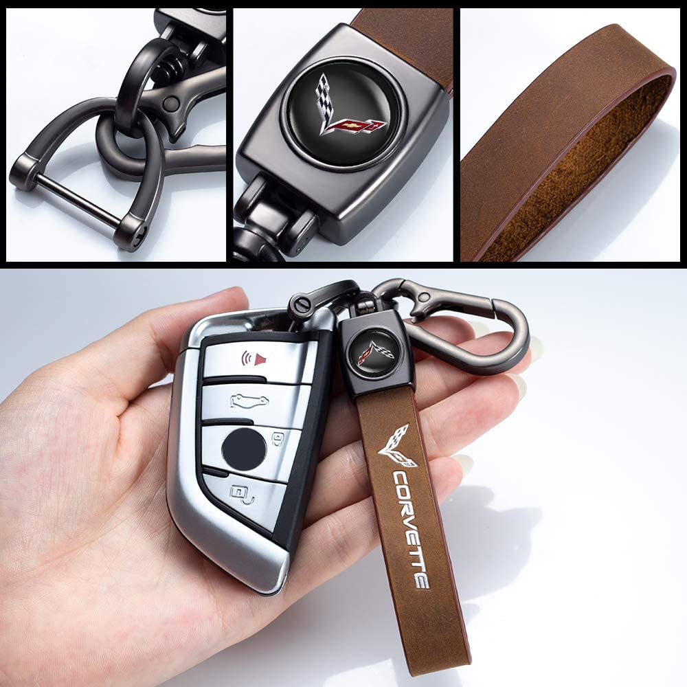 1pcs Genuine Leather Car Logo Keychain Suit for Mazda 3 CX3 CX5 CX7 CX9 SPEED3 Key Chain Keyring Family Present for Man and Woman