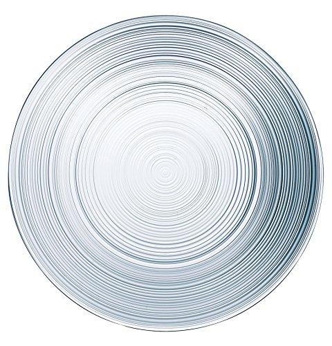 Arc International Set of 6 Dinner Plates, 10.5 inch, Clear