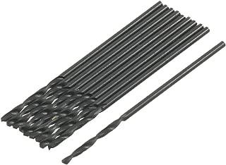 uxcell 10 Pcs 1.1mm Dia HSS Twist Drill Bit w Plastic Cylindric Box