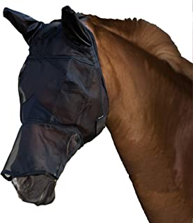 BETAZOOER Fly Mask with Ears and Long Nose Breathable