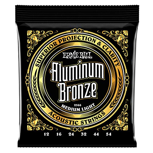 Ernie Ball Medium Light Aluminium Bronze Akustikgitarre Saiten - 12-54 Gauge