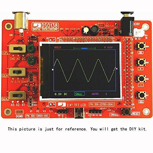 "KKmoon Oszilloskop Set DSO138 2,4\""TFT Mini Taschenformat Digitale DIY Teile Electronik Lernen Set 1Msps"