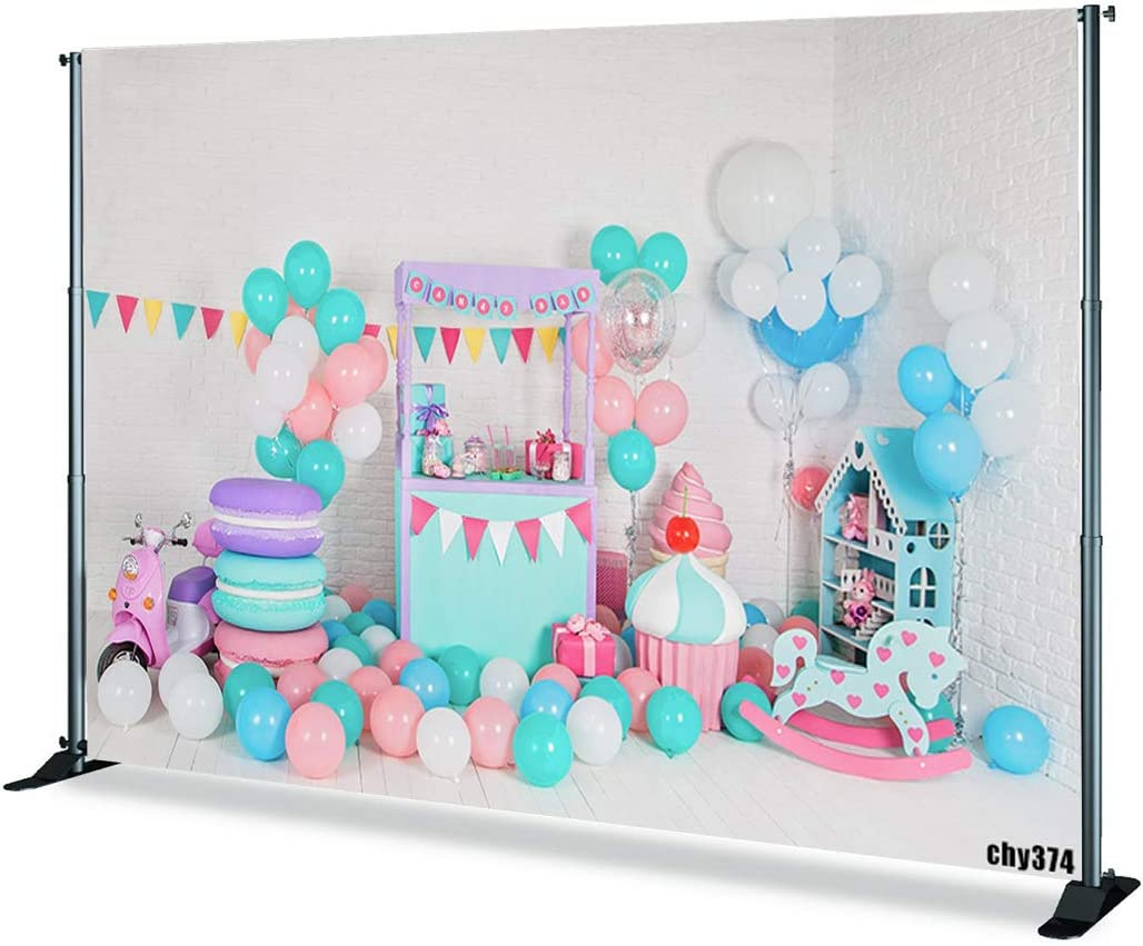 Levoo Flannel Balloon Background Banner Photography Studio Children Baby Boy Girl Birthday Family Party Holiday Celebration Romantic Wedding Photography Backdrop Home Decoration 5x3ft,chy374