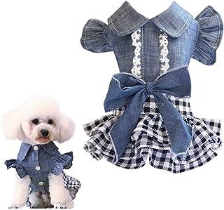 GOUSHENG-Costumes Abiti Animali Domestici Vestiti per Cani Estivi per Cani di Piccola Taglia Moda Cotone Gatto Cane Maglietta Gilet Abbigliamento per Cuccioli Chihuahua Yorkshire Camicie Prodotti per