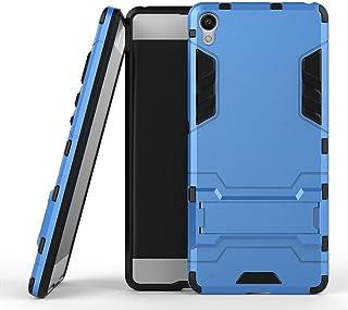MaiJin ソニー Sony Xperia XA (5インチ) 保護カバー 2イン1 デュアル ハイブリッド ブラケット機能 耐衝撃ケース (ブルー)