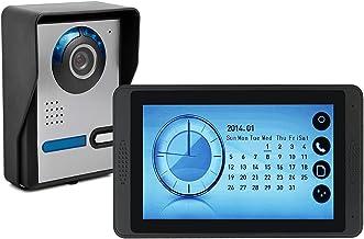 Videodeurbel, intercom, deurinvoersysteem, bekabelde videodeurtelefoon voor huisbeveiliging, IR-nachtzichtcamera + 7 inch ...