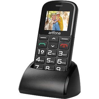 artfone Seniorenhandy ohne Vertrag   Dual SIM Handy mit Notruftaste   Rentner Handy große Tasten   2G GSM Handy   Großtastenhandy mit Ladestation und Kamera 1400 mAh Akku Lange Standby-Zeit