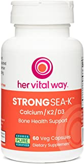 Strong Sea-K Whole Food Calcium/K2/D3 Bone Health Support with Trace Minerals