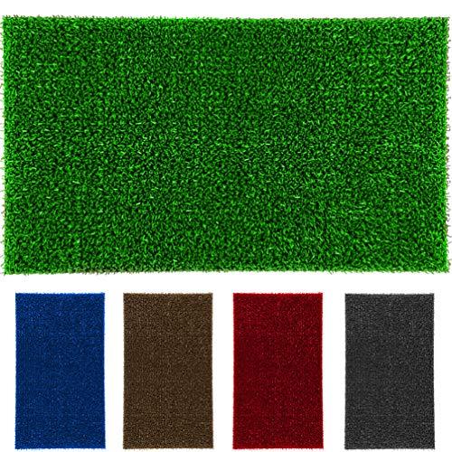 LucaHome - Felpudo Astroturf Reciclado 40x70 con Base Antideslizante, Felpudo de Césped Artificial,, Tacto Agradable, Ideal para Interior o Exterior (Verde)