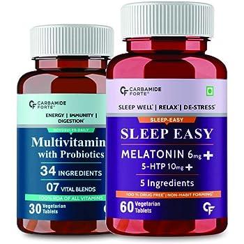 Carbamide Forte Sleep well,relax & DE-stress soothing sleep formula-vitamins-60 Veg Tablets