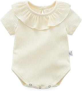 062510a8ebf ZooArts ベビー服 ロンパース かわいい 新生児サイズ 男の子 女の子 半袖 夏 無地 綿 カバーオール ワンピース 赤ちゃん 柔らかい